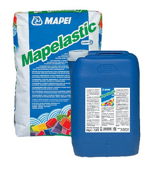 Poza cu Hidroizolatie spatii umede sub placari Mapei Mapelastic componenta B